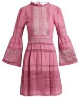 Sea Ruffled macramé-lace cotton dress