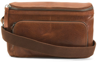 Leather Big Waist Bag