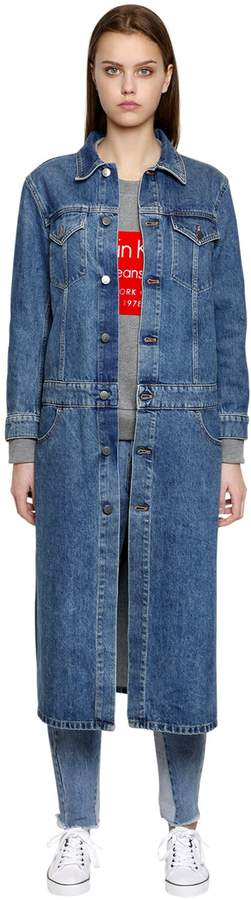 Calvin Klein Jeans Long Cotton Denim Coat