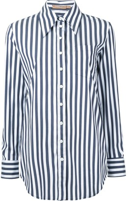Michael Kors Striped Boyfriend Fit Shirt
