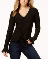 BCX Juniors' V-Neck Ruched Top