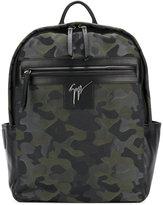 Giuseppe Zanotti Design Randy camouflage backpack