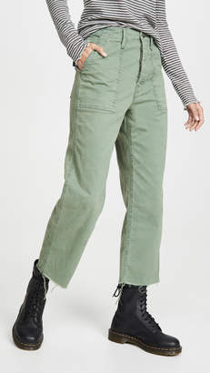 Mother The Patch Pocket Private Ankle Fray Pants