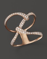 Bloomingdale's Diamond Open Weave Statement Ring in 14K Rose Gold, .35 ct. t.w.