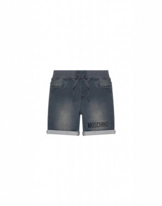 Moschino Shorts With Teddy Bear Patch Unisex Grey Size 4a It - (4y Us)