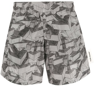 Off-White All-Over Arrow Print Swim Shorts