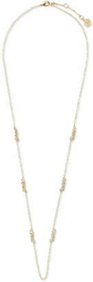 Vince Camuto Twisted Pave Crystal Station Chain Necklace