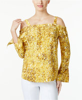Thalia Sodi Printed Off-The-Shoulder Blouse, Only at Macy's