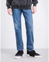Balenciaga Distressed regular-fit straight jeans