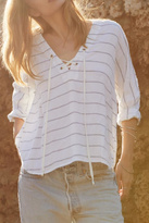 Rails Lily Lace-Up Striped Shirt