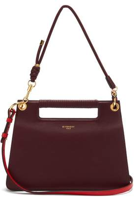 Givenchy The Whip Medium Cut-out Leather Cross-body Bag - Womens - Burgundy