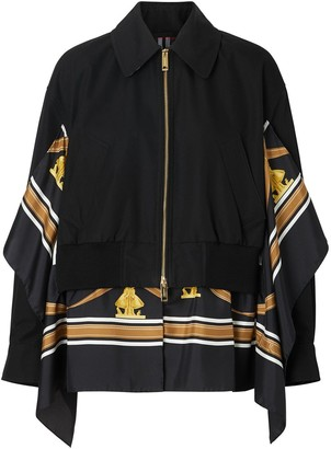Burberry Scarf-Detail Bomber Jacket