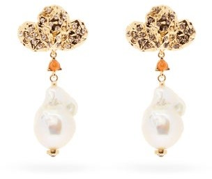 Chloé Baroque Pearl-drop & Crystal Earrings - Womens - Pearl