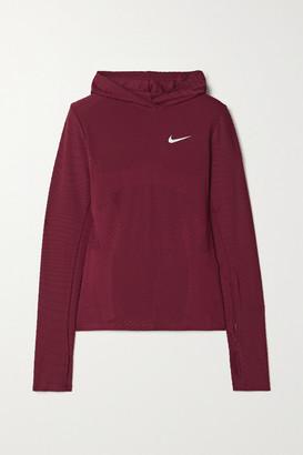Nike Textured Dri-fit Hoodie - Claret