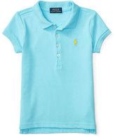 Ralph Lauren 2-6X Short Sleeve Cotton Mesh Polo