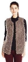 Vince Camuto Women's Shaggy Faux Fur Vest