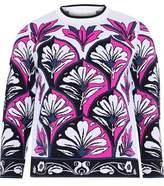 Victoria Victoria Beckham Paneled Floral Intarsia-Knit Top