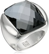 "Robert Lee Morris Cocktail Hour"" Faceted Stone Silver Sculptural Ring, Size 7.5"