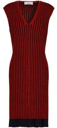 Pringle Ribbed Merino Wool And Silk-blend Dress