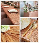 "B-COOL 50""X50"" sequin tablecloth SQUARE sequin wedding/party/evening decoration tablecloth"