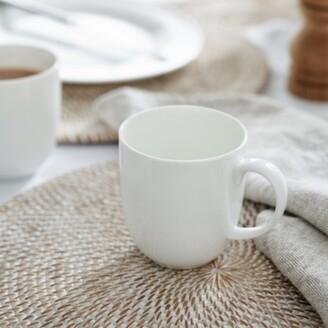The White Company Symons Bone China Mug , White, One Size