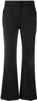 Jil Sander Cropped Flared Trousers