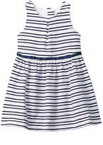 Nautica Scalloped Stripe Dress