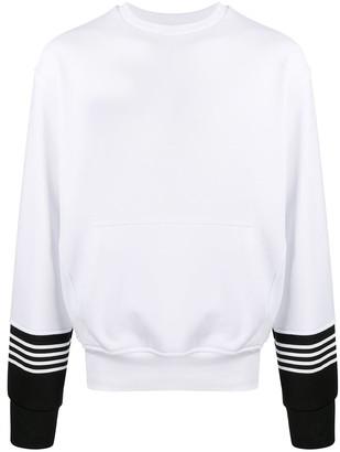 Neil Barrett Striped Cuff Sweatshirt