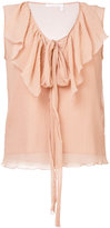See by Chloe ruffled sleeveless blouse - women - Silk/Cotton - 36