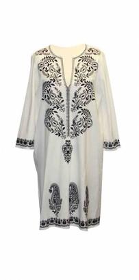 MARIE FRANCE VAN DAMME White Cotton Dress for Women
