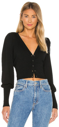 525 America Cropped Cardi with Puff Sleeve