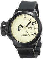 Welder Men's K24-3101 K24 Analog Black Ion-Plated Stainless Steel Round Watch