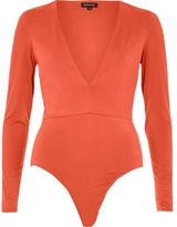 River Island Womens Red plunge bodysuit