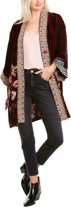Johnny Was Blake Silk-Blend Kimono