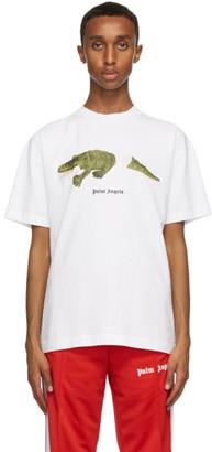 Palm Angels White Croco T-Shirt