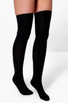 Boohoo Grace Over The Knee Socks 3 Pack black