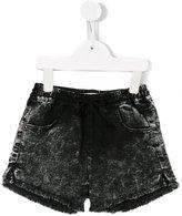 Andorine - raw edge mini shorts - kids - Cotton/Polyester/Spandex/Elastane - 2 yrs