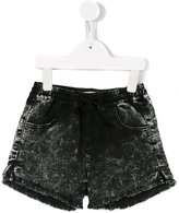 Andorine raw edge mini shorts