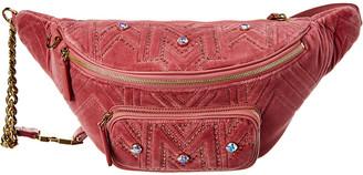 MCM Furston Large Velvet Belt Bag