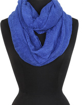 Big Buddha Blue Supersoft Ruched Infinity Scarf
