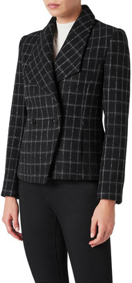 David Lawrence Avelin Check Felted Wool Jacket
