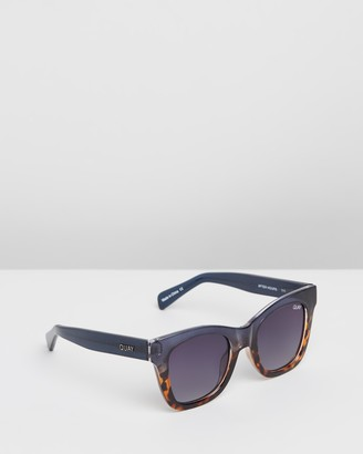Quay x Chrissy After Hours Navy and Tort Square Sunglasses