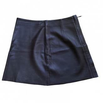 Calvin Klein Burgundy Leather Skirt for Women