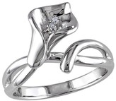Allura 0.011 CT. T.W. Diamond Calla Lily Ring in Sterling Silver (GH) (I1:I2)