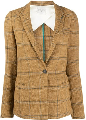 Forte Forte Single-Breasted Check Blazer