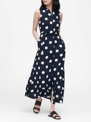 Banana Republic Polka Dot Maxi Dress
