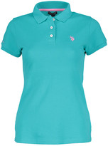 U.S. Polo Assn. Women's Polo Shirts ASTRAL - Astral Turquoise Small Pony Polo - Women