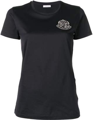 Moncler embellished logo appliqué T-shirt