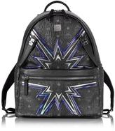 MCM Black Medium D S Cyber Flash Backpack