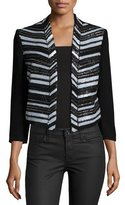 Haute Hippie Embellished Cropped Blazer Topper